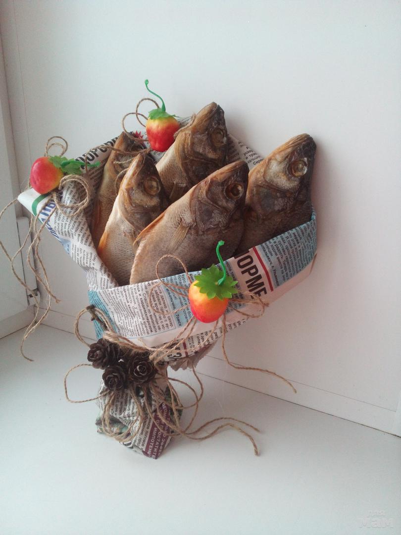 Как сделать букет из сушеной рыбы пошагово 191