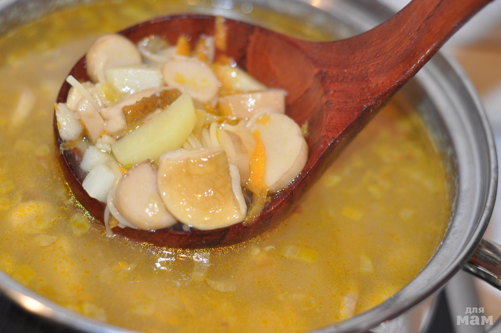 суп из сухих белых грибов с картошкой видео