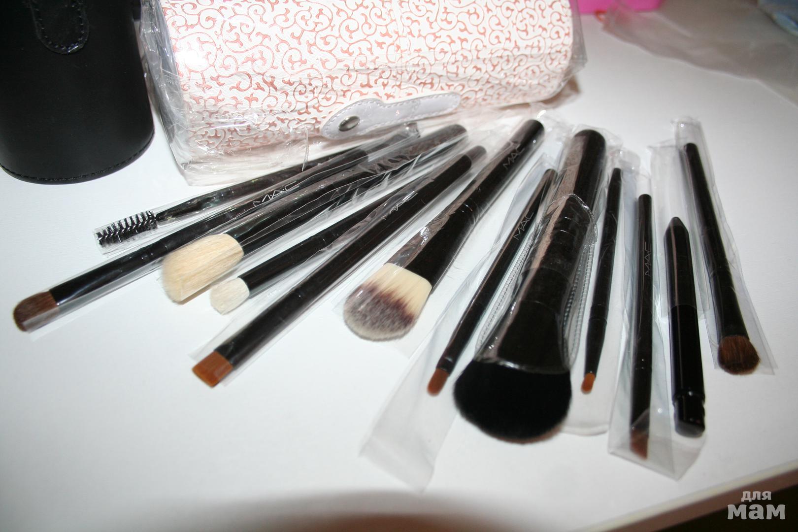 Кисти mac для макияжа что для чего 12 штук