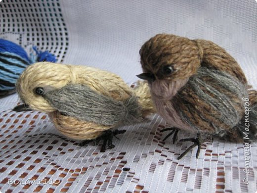 Птица из ниток мастер класс
