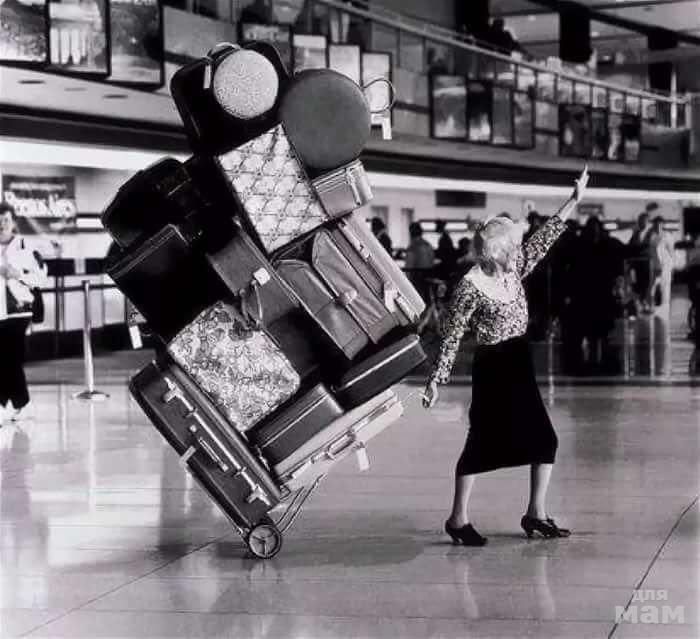 Днем, прикольные картинки с чемоданами