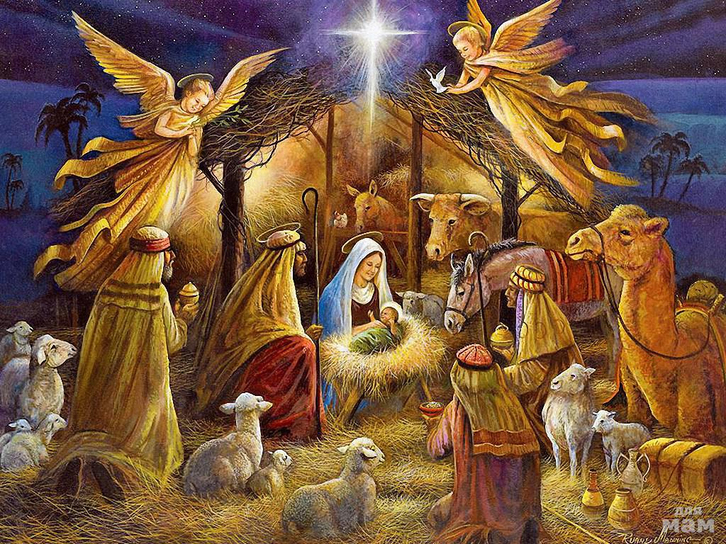 Картинка с рождеством христово для детей
