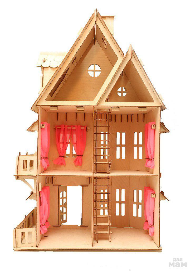 Купить кукольный домик из фанеры чудо дом