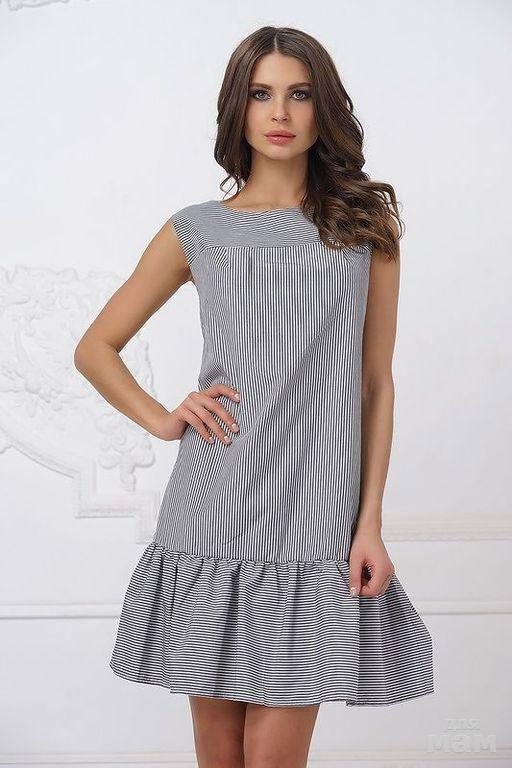 c10e403c75515cc Размер 42,44,46 цена 1720. Летнее платье без рукава и Округлым вырезом  горловины. Выполнено ...
